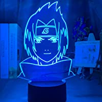 MIZUAN Naruto Sasuke En Itachi Uchiha 3D LED nachtlampje Anime lamp voor kinderen kinderen slaapkamer decor nachtlampje…
