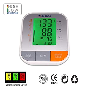 Dr. Odin B12 Fully Automatic Digital Blood Pressure Monitor with Alarm and Talking Function CE Certified