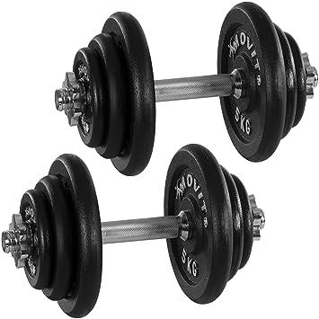 Movit Hierro Fundido Juego 2 mancuernas, modelos diferentes, 20 kg, 30 kg,