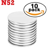 """iTechVue Magnets 1.5"""" x 1/16"""" Disc Neodymium Magnets. Super Strong N52 Magnets - Pack of 10"""