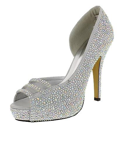 De Elza Chaussures Soirée Silver Chaussure Femme nv8Nwm0