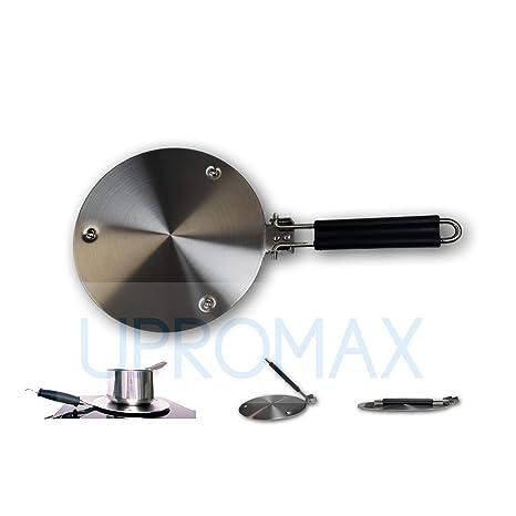 11 cm acero inoxidable Inducción vitrocerámica convertidor ...
