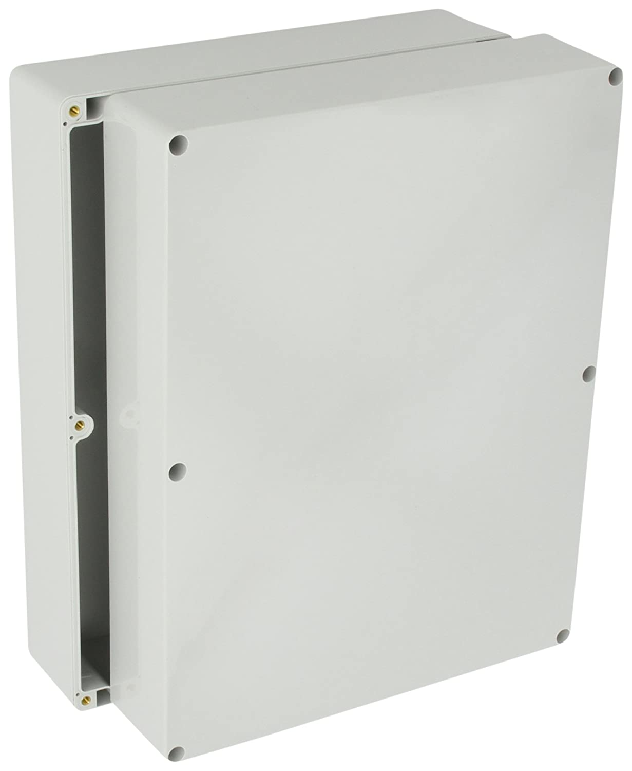 BUD Industries NBA-10176 Style A Plastic Indoor Box with Clear Door Light Gray Finish 23-39//64 Length x 15-3//4 Width x 9-3//64 Height 23-39//64 Length x 15-3//4 Width x 9-3//64 Height