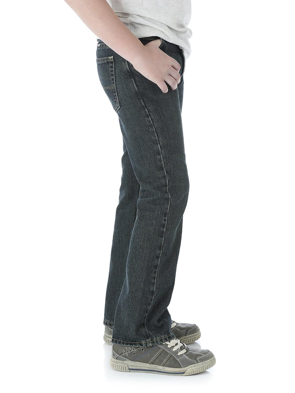 Medium Wash Blue, Size 4 Regular Wrangler Boys Five Star Premium Denim Classic Boot Fit Jeans
