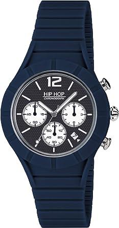 Orologio HIP HOP UOMO X MAN quadrante MONO COLORE BLU movimento CHRONO QUARZO e CINTURINO SILICONE BLU HWU0658