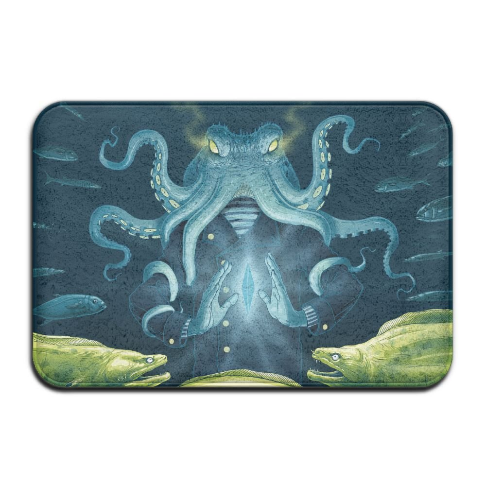 1 Piece Smart Dry Memory Foam Bath Kitchen Mat For Bathroom - North Pacific Giant Octopus Shower Spa Rug 18X36 Door Mats Home Decor With Non Slip Backing - 3 Sizes