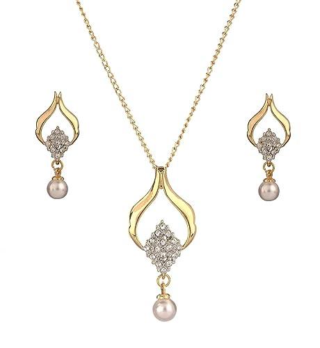 2d23a76f704b9 Buy Dg Jewels Nakshatra Pearl Pendant Set-CPS8190 Online at Low ...