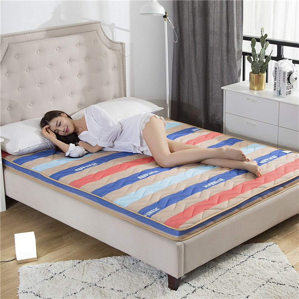 HYXL 3d bambù carbone spessore traspirante antiscivolo piano materasso pad letto ortopedico trampolino tatami mat sonno nap cuscino dormitorio-A 90x190cm(35x75inch) BNVFJDGVYUDGY