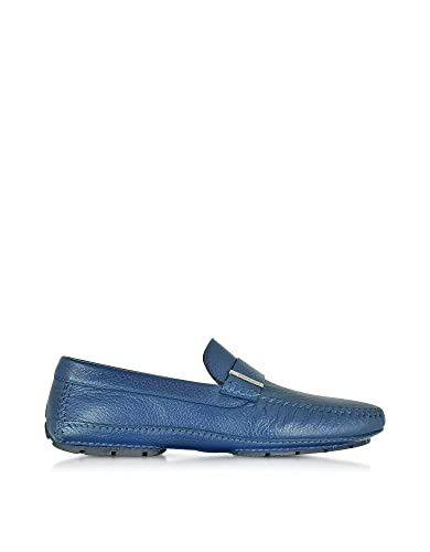 Men's 41426SHMIAMIBLUE Blue Leather Loafers