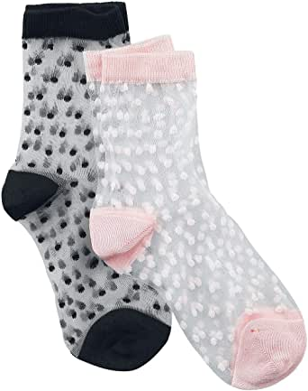 disée 2er Pack Ankle Söckchen Mujer Calcetines Negro/Rosa ...