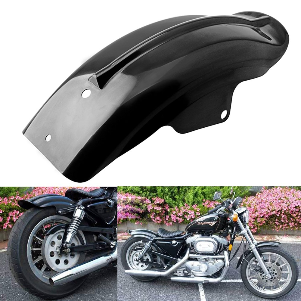 Custom Black Rear Fender Mudguard For Motorcycle Cruiser 1983 Honda Shadow Parts Chopper Bobber Caf Racer Yamaha V Star Automotive