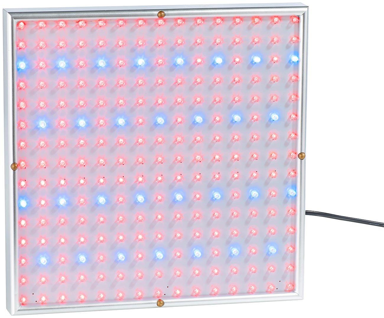3er-Set 225 LEDs Lunartec Pflanzenlampe: Profi LED-Pflanzen-Wachstums-leuchtpanels LED Pflanzenleuchte