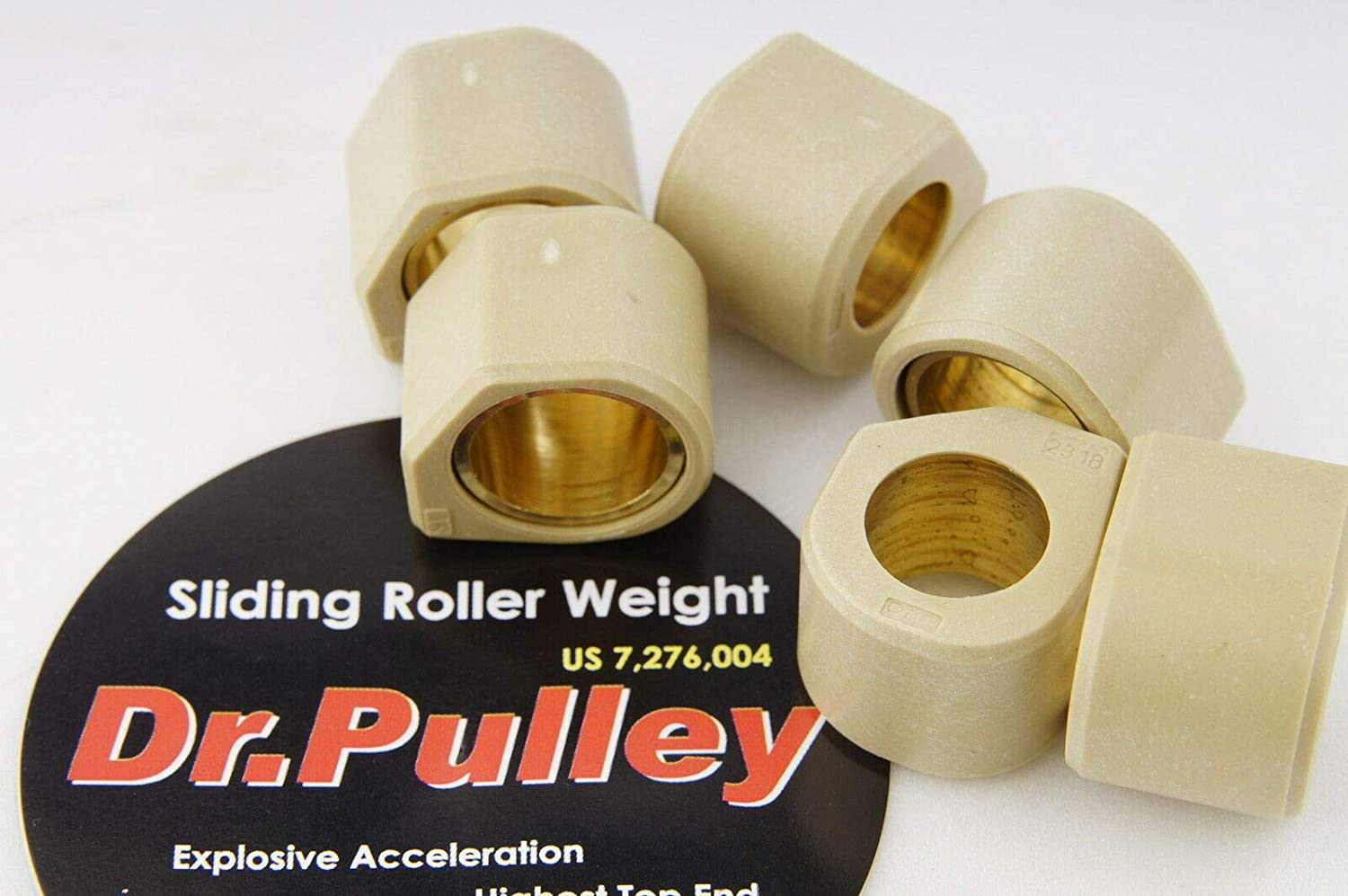 ALL KYMCO XCITING 250 DR.PULLEY SR2318 HEXAGONAL SLIDING ROLLER WEIGHTS