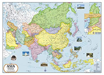 Politische Karte Asien.Vcp Politische Karte Von Asien Continental Laminated Wall Hanging