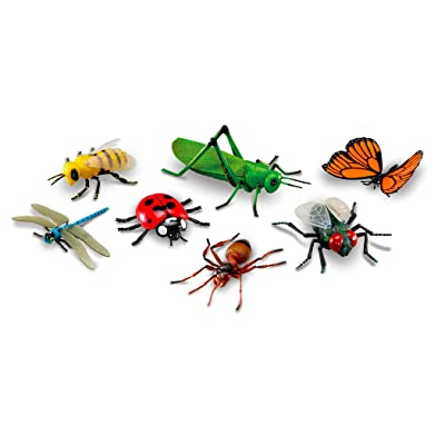 Learning Resources Jumbo Insects I Fly, Ant, Bee, Ladybug, Grasshopper, Butterfly, Dragonfly, 7 Insects: Toys & Games