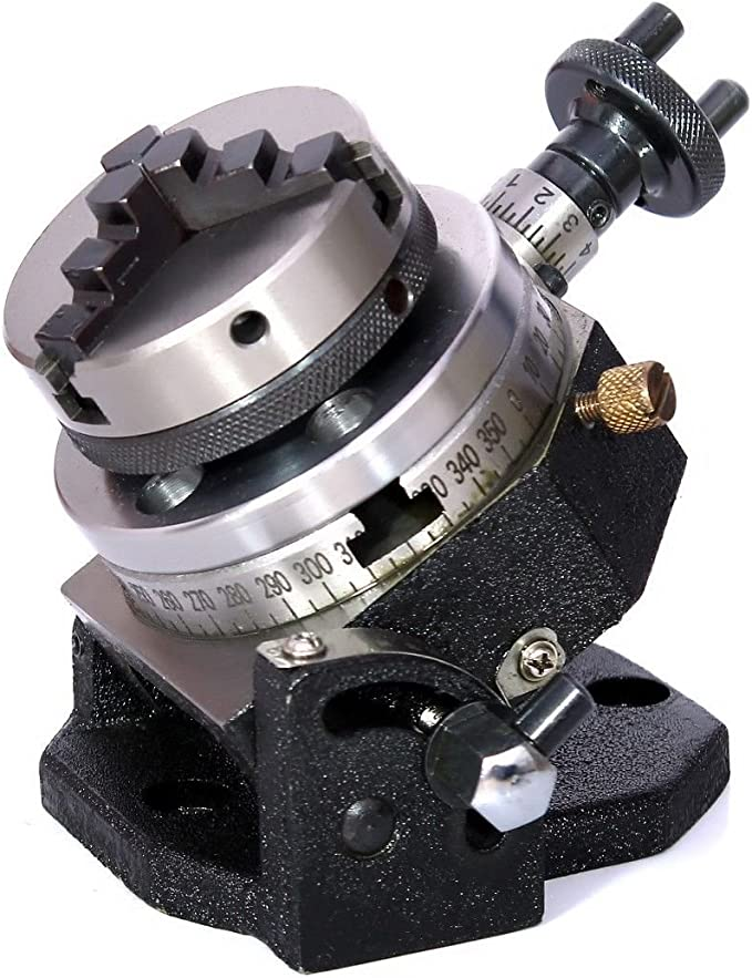 """2.75/"""" ROTARY TABLE WITH 50MM LATHE CHUCK /& M6 CLAMPING KIT"""