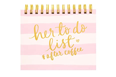 Eccolo Dayna Lee Collection Spiral Planner Pad, Perforated, Her to-Do List, 5x7