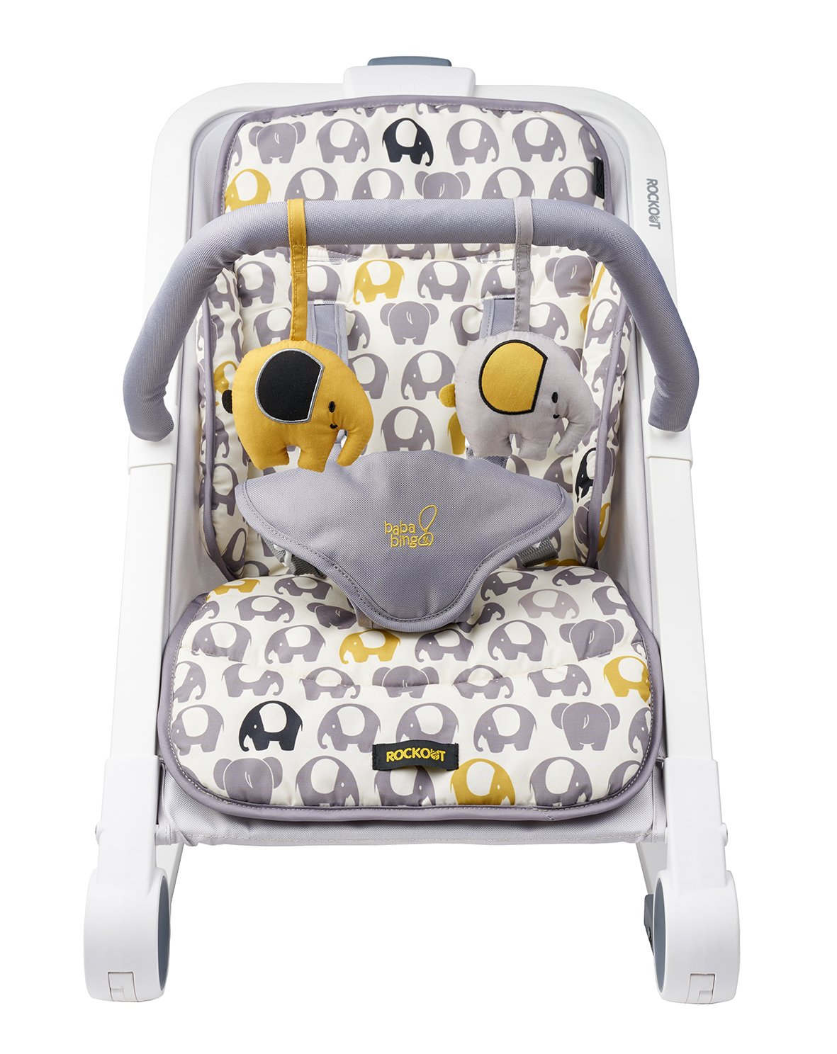 BabaBing! Rock Out Baby Rocker/Bouncer, Nellie The Elephant baba bing BB50-003