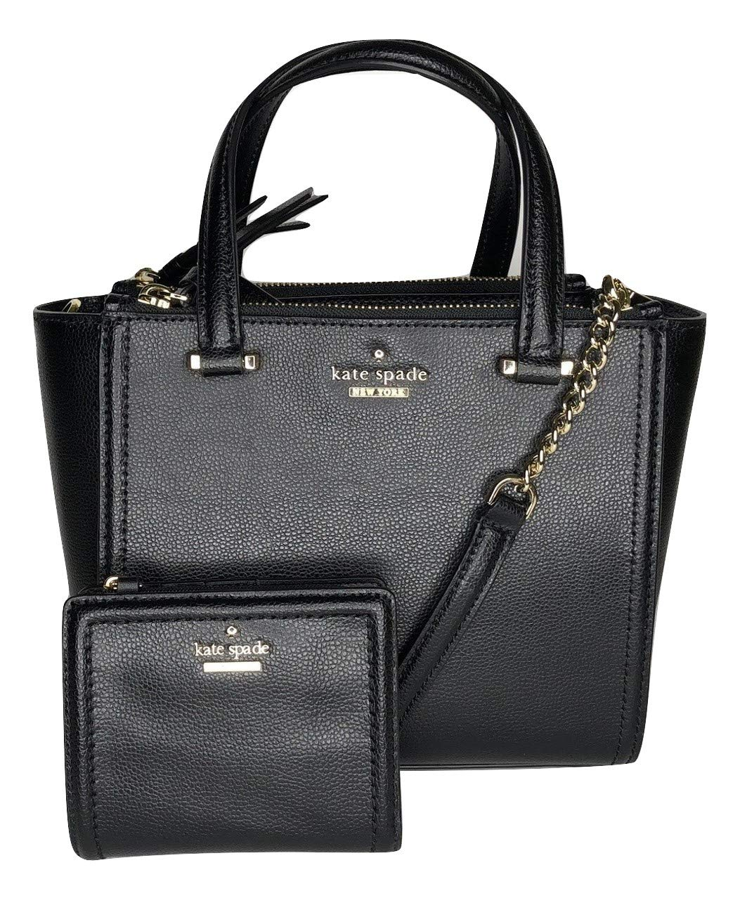 Kate Spade New York Patterson Drive Mini Kona WKRU5650 bundled with matching Kate Spade New York Patterson Drive Small Shawn WLRU5156 (Black)