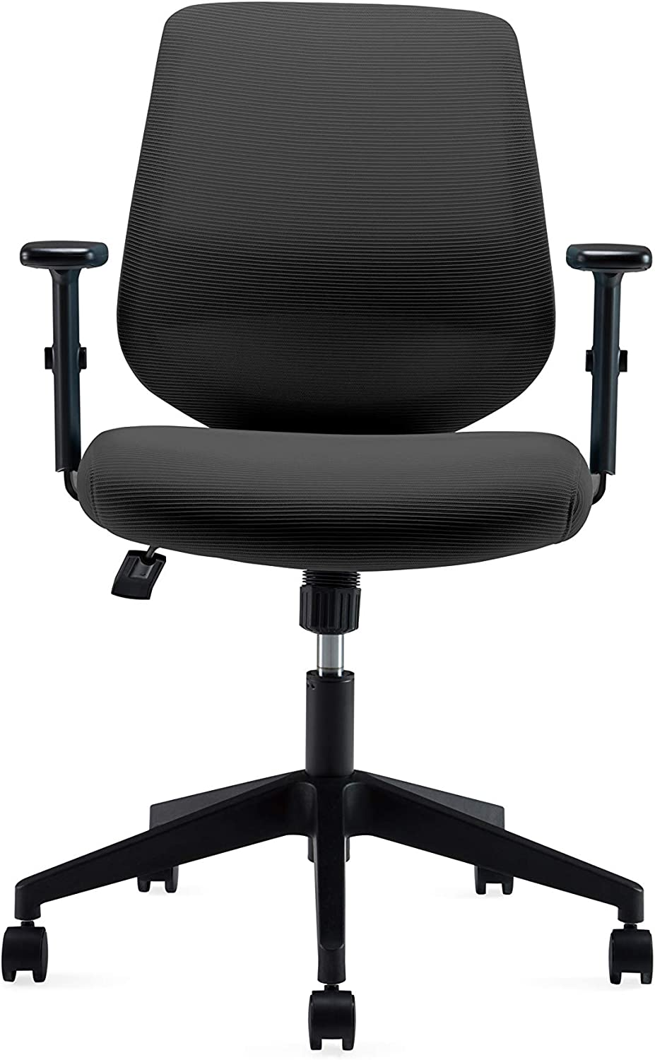Ergonomics Shield-Shape Backrest Office Chair with Lumbar Support and Adjustable Armrest (VX015)