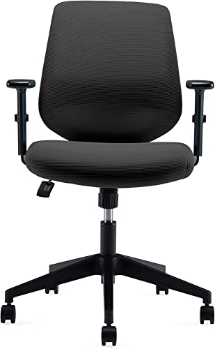 Ergonomics Shield-Shape Backrest Swivel Office Chair