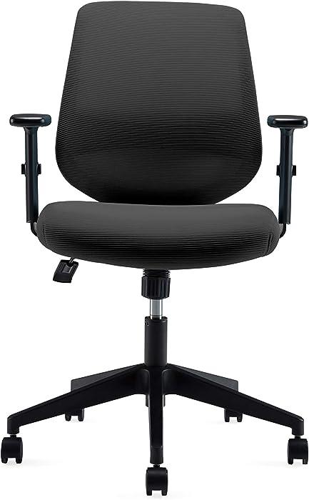 Ergonomics Shield-Shape Backrest Office Chair with Lumbar Support and Adjustable Armrest (VX015)