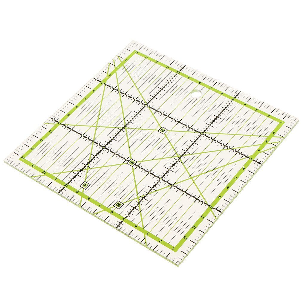 MagiDeal 15x15cm Clear Plastic Quilt Quilting Ruler Patchwork Sewing Ruler for Crafts