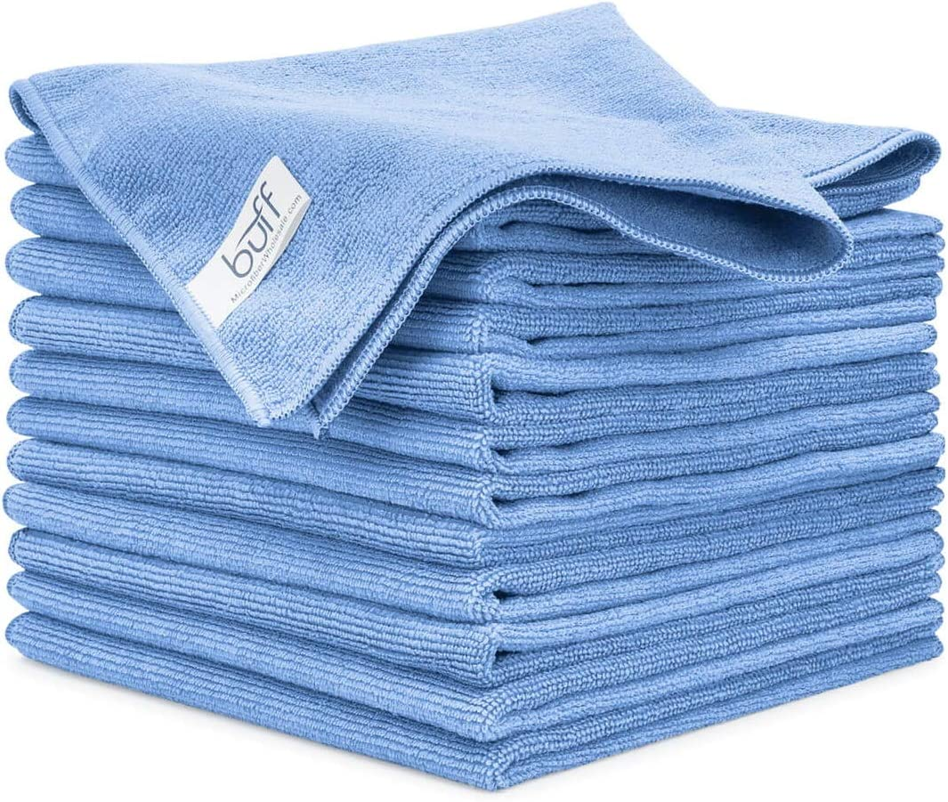 Buff Microfiber Cleaning Cloth | Blue (12 Pack) | Size 16