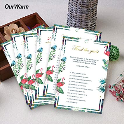 decoration engagement favors bridal shower 150pcs wedding cards 100pcs fun game cards and 50pcs best wish