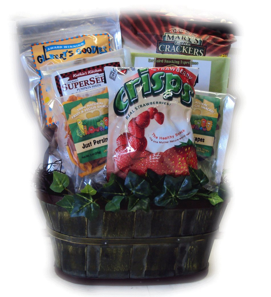 Nut Free Healthy Gift Basket by Well Baskets: Amazon.com: Grocery ...