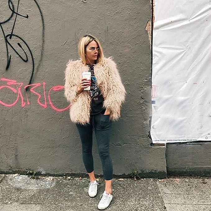 Amazon.com: Baiggooswt Winter Lady Womens Warm Short Faux Fur Coat Jacket Parka Crop Top Outerwear: Clothing
