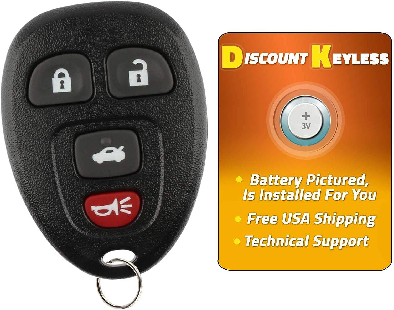 KeylessOption Keyless Entry Flip Key Car Remote Fob Ignition key For 15912860 Impala Monte Carlo Lucerne DTS