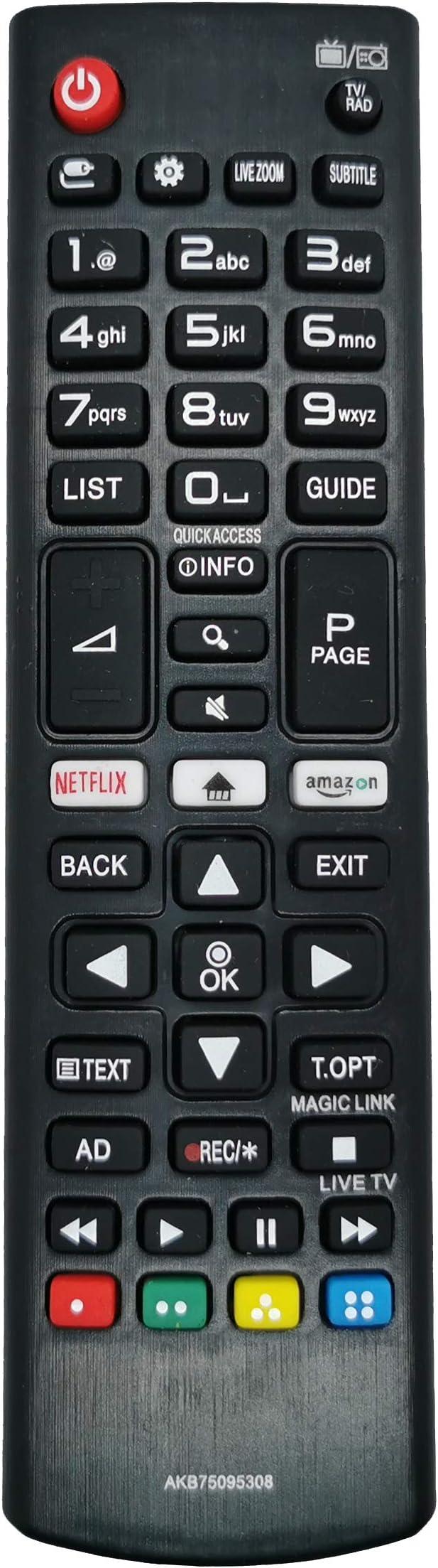 SUKRAGRAHA - Mando a Distancia de Repuesto para televisor LG LED 32LB550 32LB561 39LB561 42LB550 42LB561 49LB550 47LB561 50LB561 50PB560 55LB561 60LB561 60PB561 AKB75095308: Amazon.es: Electrónica