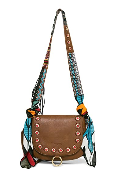 Desigual Sac 17waxpck Varsovia Jeans Marron Taille Unique Amazon Fr
