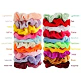 40pcs Hair Scrunchies Velvet Elastic Hair Bands