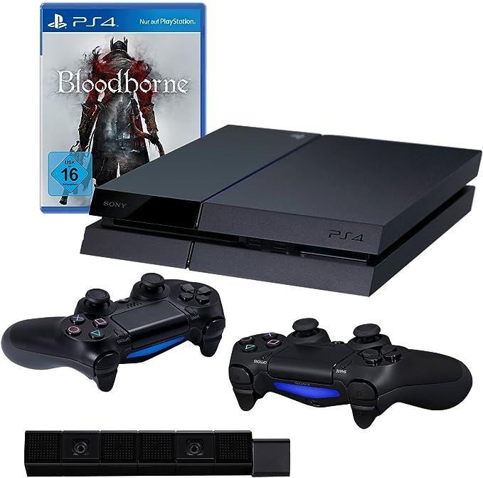 PlayStation 4 - Consola incluye Bloodborne + 2 DualShock 4 Wireless Controller + Cámara: Amazon.es: Videojuegos