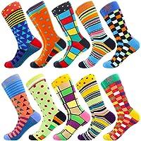 BISOUSOX Calcetines Divertidos para Hombres Calcetines de Algodón Calcetines Coloridos Calcetines Locos de Moda para…