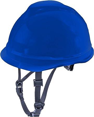 MSA 520 V-Gard Casco de Seguridad con Correa de Barbilla para la protección en la construcción - Azul: Amazon.es: Bricolaje y herramientas
