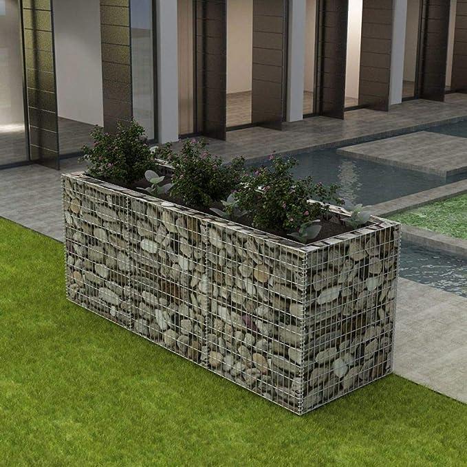 WT Trade - Cesta para Plantas de Acero galvanizado (270 x 90 x 100 ...