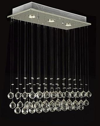 Modern chandelier rain drop lighting crystal ball fixture pendant modern chandelier rain drop lighting crystal ball fixture pendant ceiling lamp h39 x w25 x aloadofball Gallery