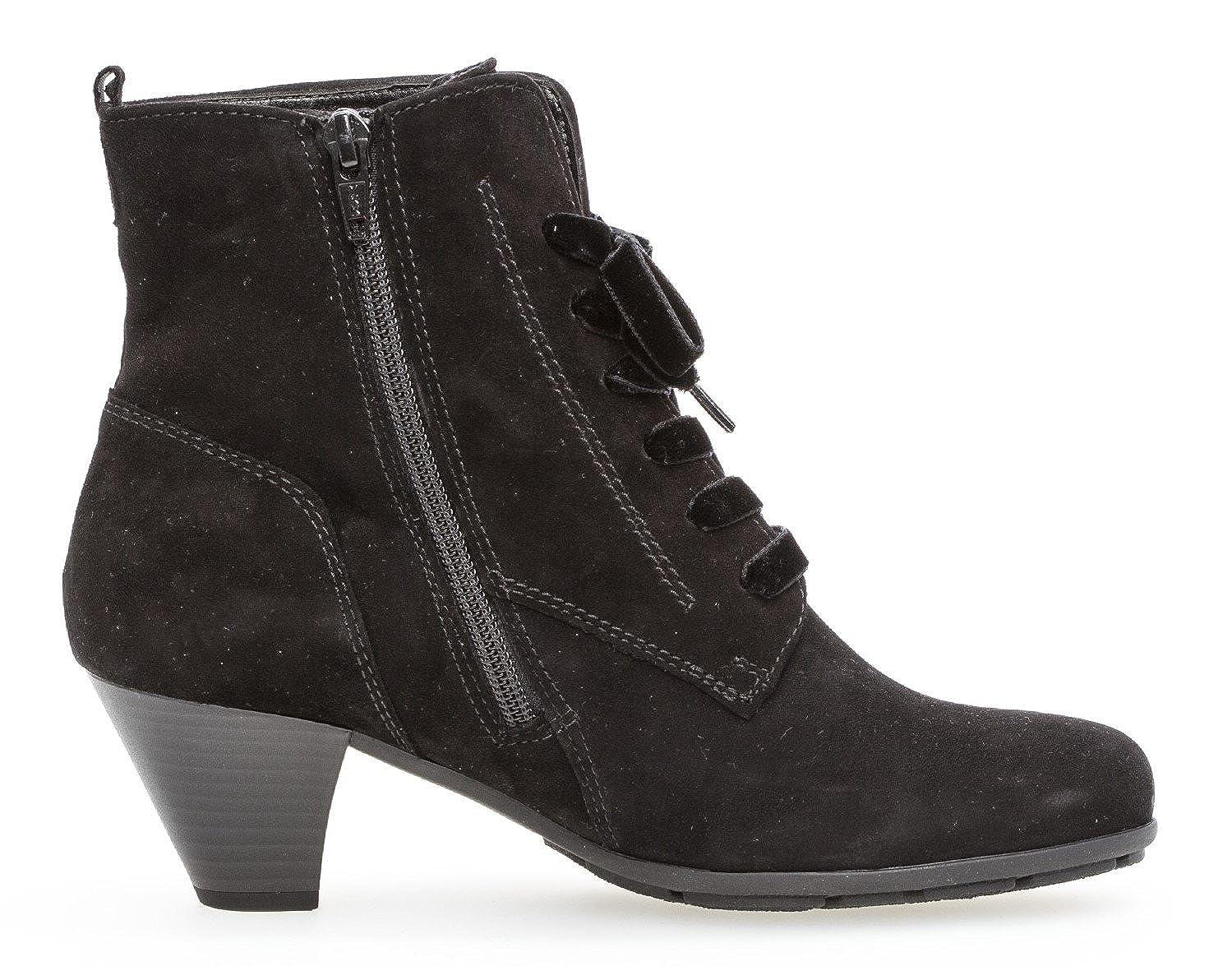 Gabor Damen Schnürstiefelette 95.641,Frauen Stiefel,Boots,Halbstiefel,Schnürboots,Bootie,hoch,Blockabsatz 5cm,F Weite (Normal)