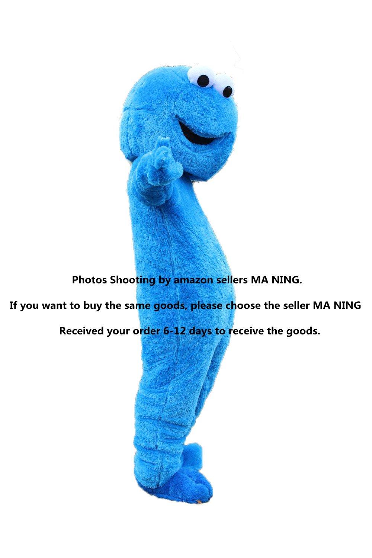 Sesame Street Cookie Monster Mascot Costume Fancy Dress Halloween Suit !