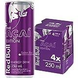 Energético Red Bull Energy Drink, Açaí, 250ml (4 latas)