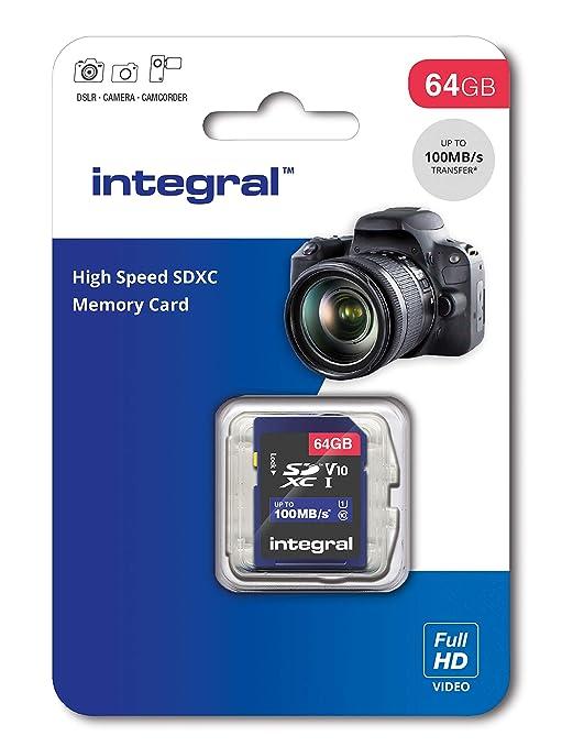 Integral INSDX64G - Tarjeta de Memoria SDXC de 64 GB de Alta ...