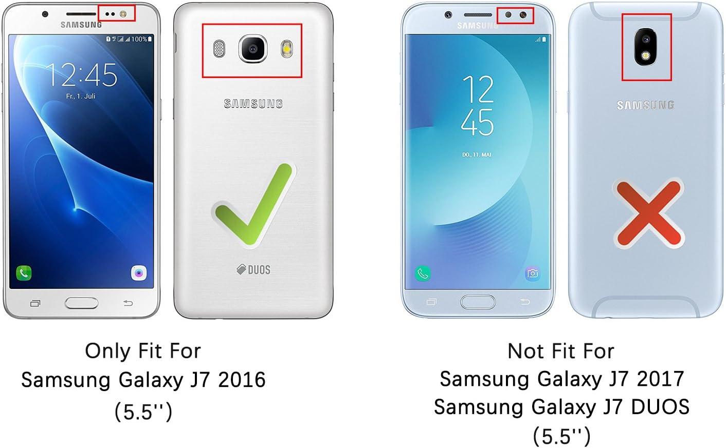 HOOMIL Funda para Samsung Galaxy J7 2016, Funda de Cuero PU ...