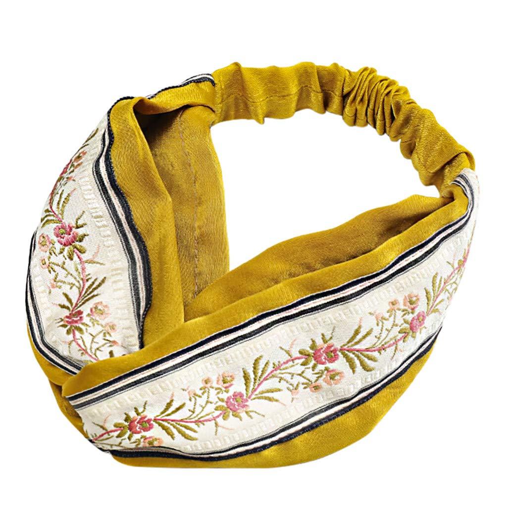 Blobboy - Cinta para el pelo para mujer, diseño vintage de flores ...