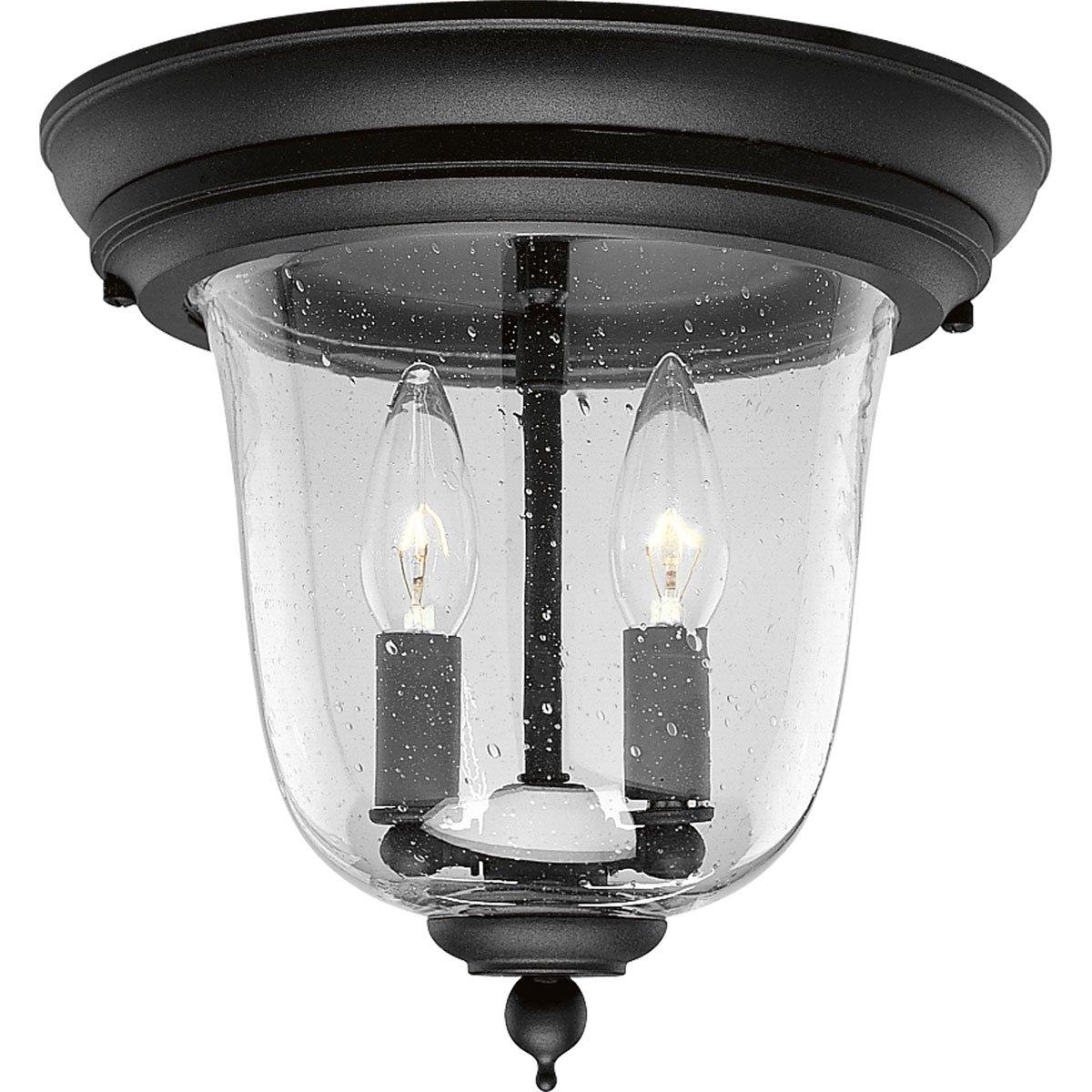 Progress Lighting P5562-31 3-Light Ashmore Hanging Lantern In Cast Aluminum, Textured Black