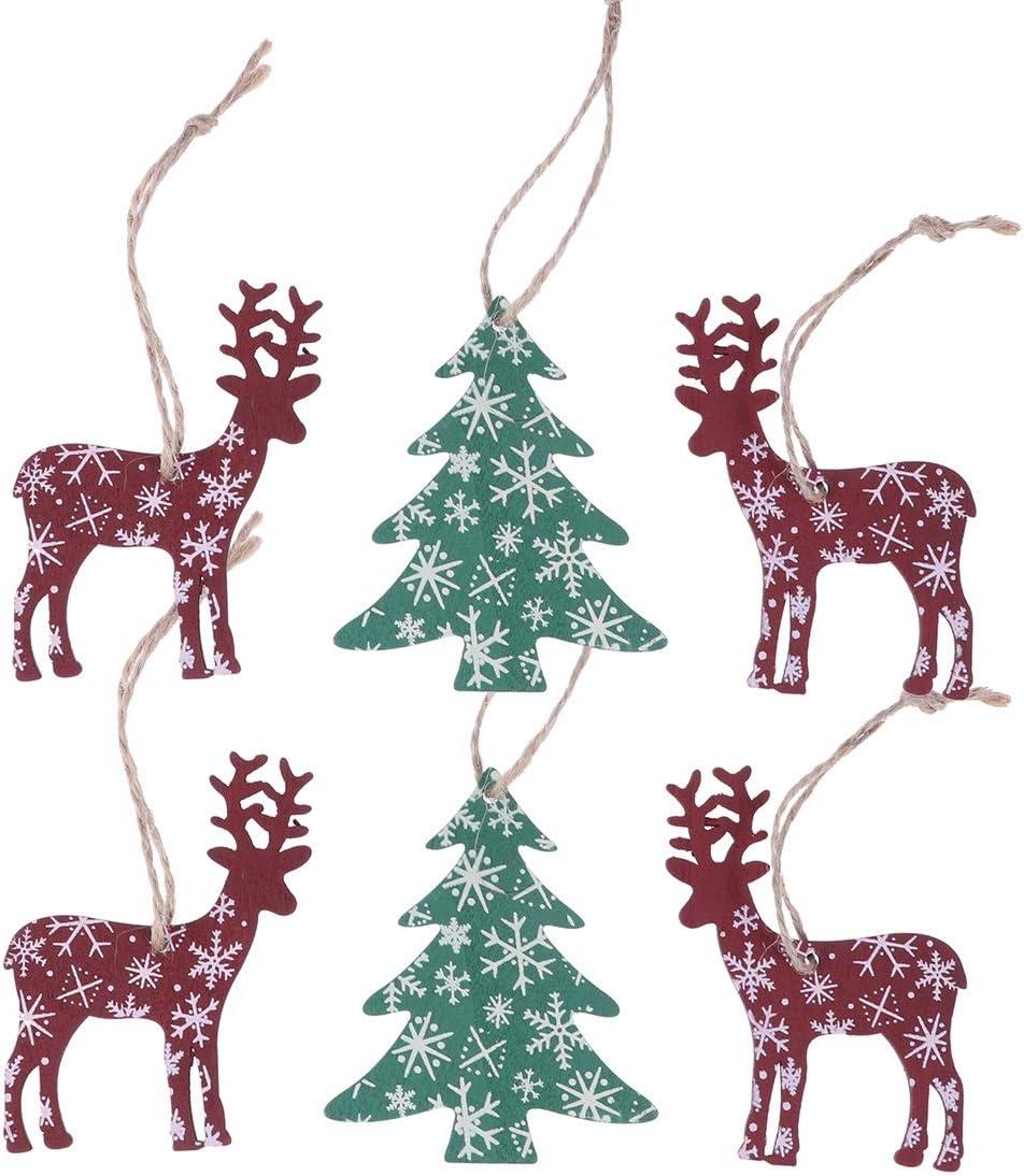 Amazon BESTOYARD Wooden Christmas Tree Hanging