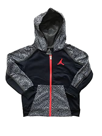0863d9abe1c Amazon.com: Nike Youth/Toddler Boys Air Jordan Therma Fit Full Zip Hoodie/Hooded  Jacket (4/96~104CM/3~4 YRS/Youth XS, Black/Grey/Red Logo): Clothing
