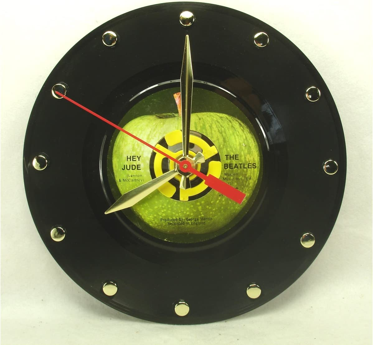 IT S OUR EARTH The Beatles 7 45rpm Record Clock Made from Real Beatles Record